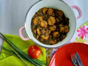 Mushroom and Plantain Porridge